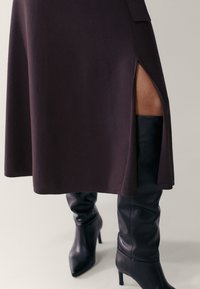 Massimo Dutti - Gebreide jurk - dark purple - 2