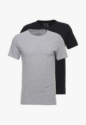 2-PACK - Basic T-shirt - black/stonemix