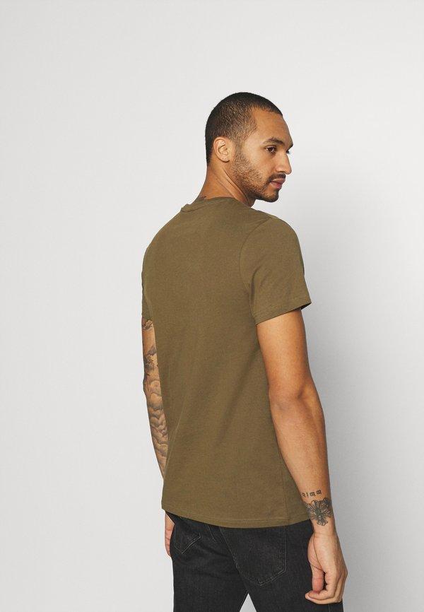 G-Star BASE-S R T S\S - T-shirt basic - wild olive/oliwkowy Odzież Męska KHBH