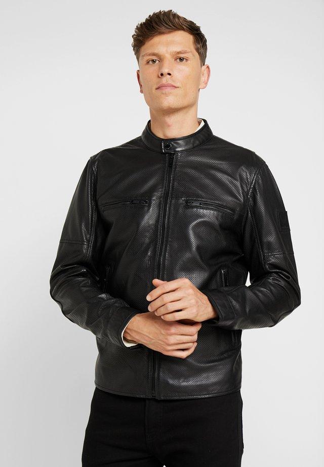 RIVER - Leather jacket - black