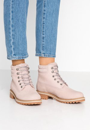 Lace-up ankle boots - light pink