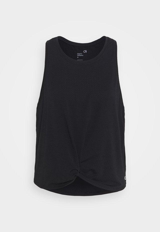 SLEEVELESS TWIST FRONT  - T-shirt sportiva - true black