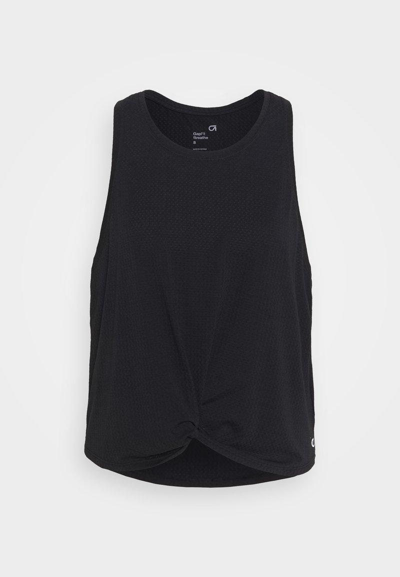GAP - SLEEVELESS TWIST FRONT  - Sports shirt - true black