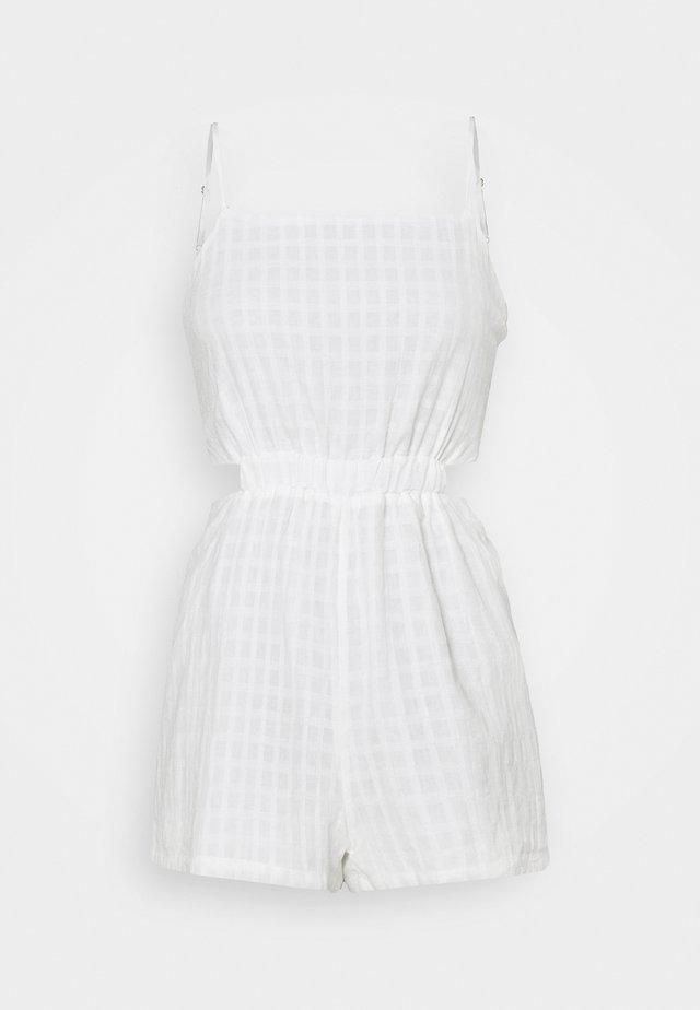 CUT OUT TIE BACK PLAYSUIT - Tuta jumpsuit - white