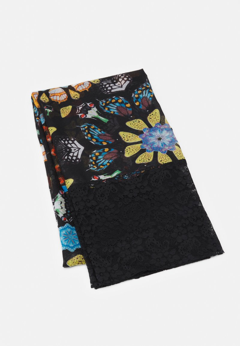 Desigual - FOU BUTTERFLY GALACTIC - Sjal - black