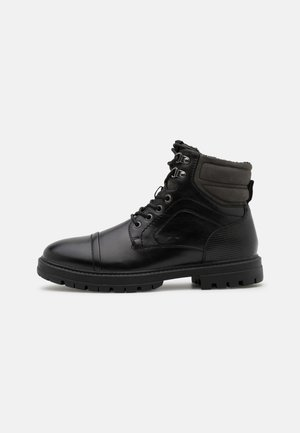 VEGAN TALLIN - Lace-up ankle boots - black