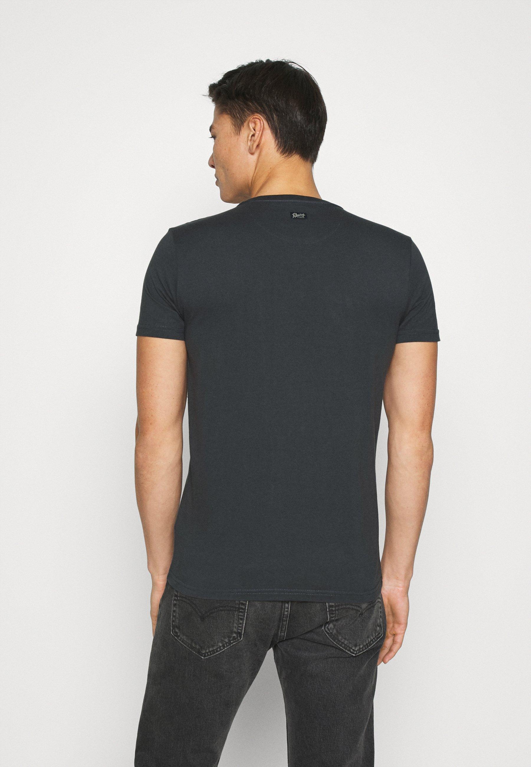 Petrol Industries Print T-shirt - raven grey RMtuk