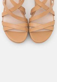 ECCO - ELEVATE - Platform sandals - latte celeste - 5