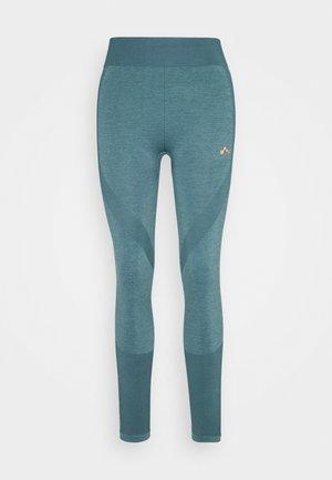 ONPAYME CIRCULAR TIGHTS - Leggings - goblin blue/fiery coral