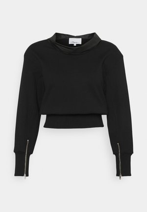 FRENCH TERRY COWL NECK  - Sudadera - black