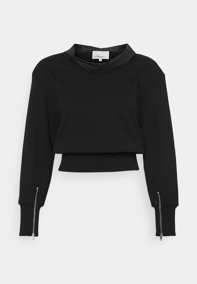 FRENCH TERRY COWL NECK  - Sweatshirt - black