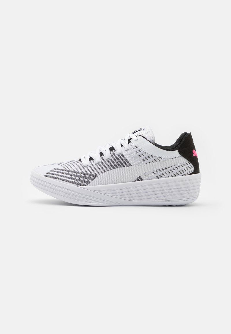 Puma - CLYDE ALL PRO - Basketball shoes - white/black