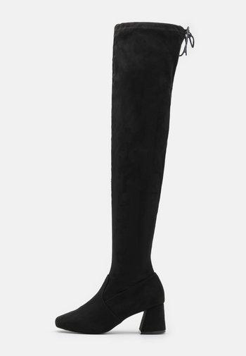 OTIS BRICKS HIGH LEG VERSION - Overknee laarzen - black