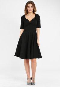 Collectif - TRIXIE - Day dress - black - 0