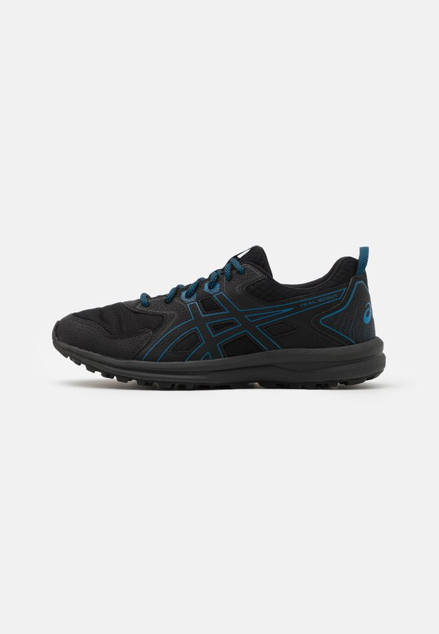 SCOUT - Trail running shoes - black/reborn blue