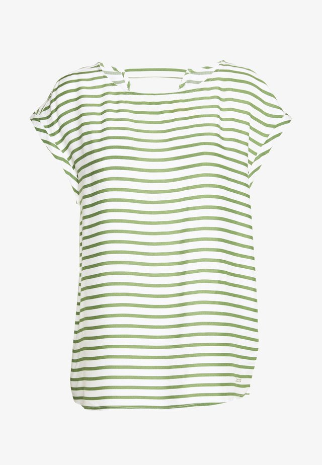 SPORTY ALL OVER PRINTED BLOUSE - Blusa - olive/white