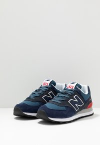 New Balance - 574 - Sneakers basse - stone blue outerspace (ML574EAE) - 4