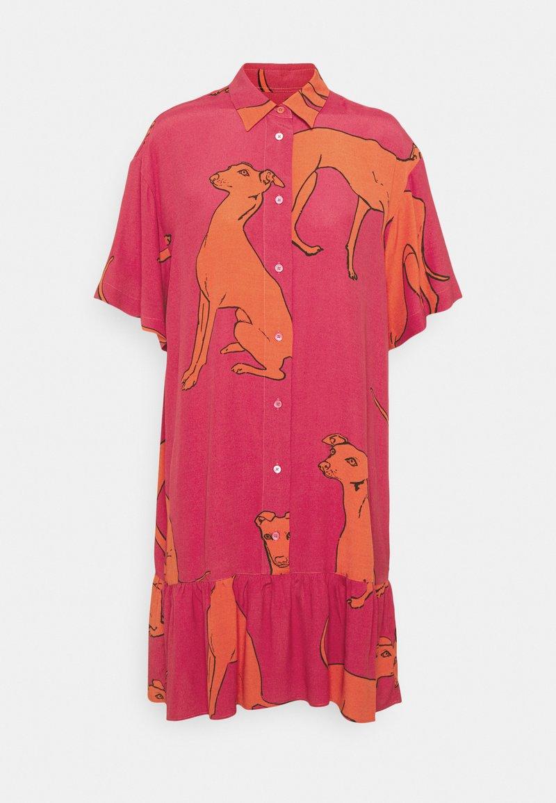 PS Paul Smith - WOMENS DRESS - Shirt dress - pink/orange