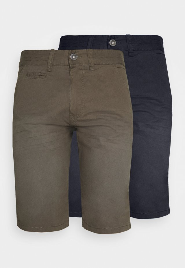 EXCLUSIVE STELLAN 2 PACK - Shorts - navy/army