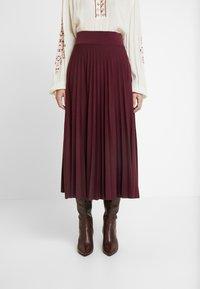 Anna Field - Plisse A-line midi skirt - A-line skjørt - winetasting - 0