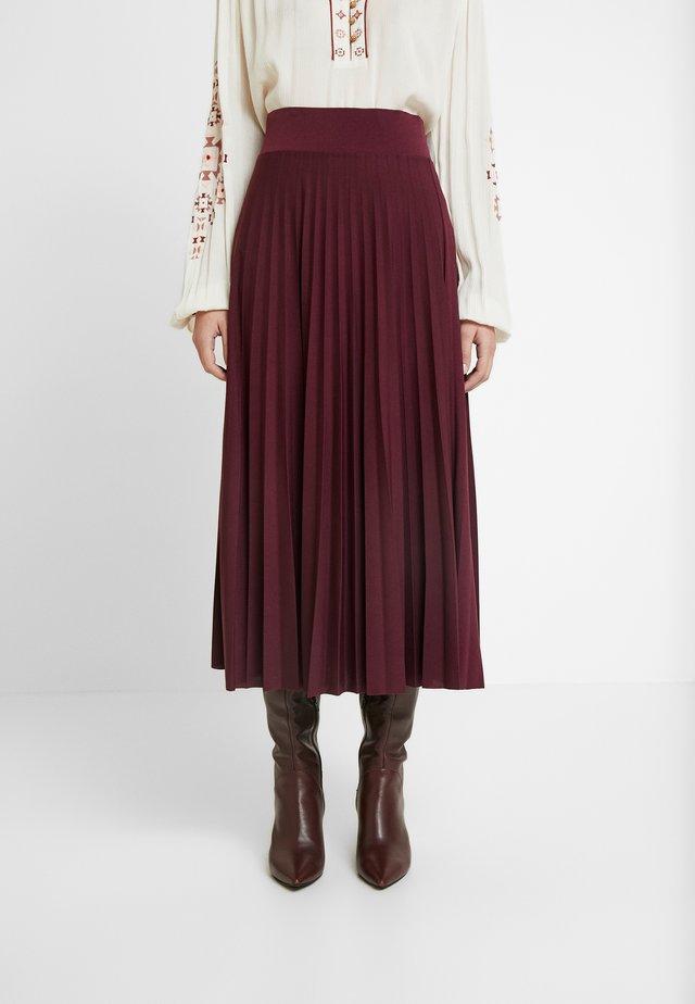 Plisse A-line midi skirt - Gonna a campana - winetasting