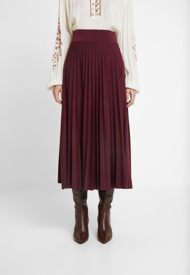 Anna Field - Plisse A-line midi skirt - A-line skjørt - winetasting