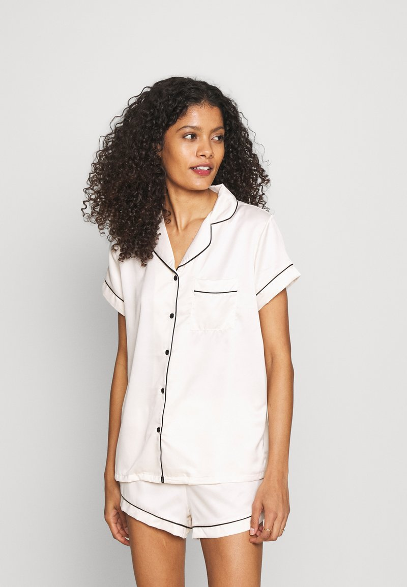 Loungeable - TRADITIONAL SHORT SLEEVE SHIRT  - Pigiama - white