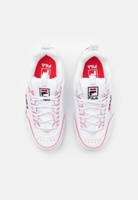 Fila - DISRUPTOR V-DAY JR - Tenisky - white/red - 3