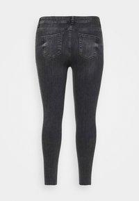 Pieces Curve - PCDELLY - Jeans Skinny Fit - dark grey denim - 7