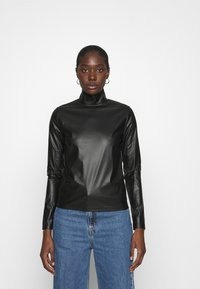Who What Wear - TURTLENECK - Long sleeved top - black - 0