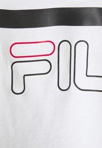 Fila - JAINA CROPPED SPORTY TEE - Print T-shirt - bright white - 2