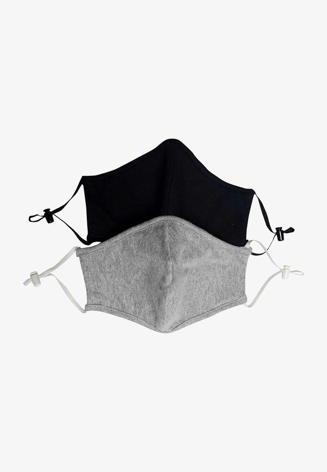 2 PACK - Masque en tissu - black/grey