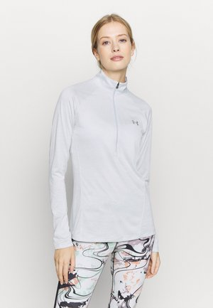 TECH ZIP TWIST - T-shirt sportiva - halo gray