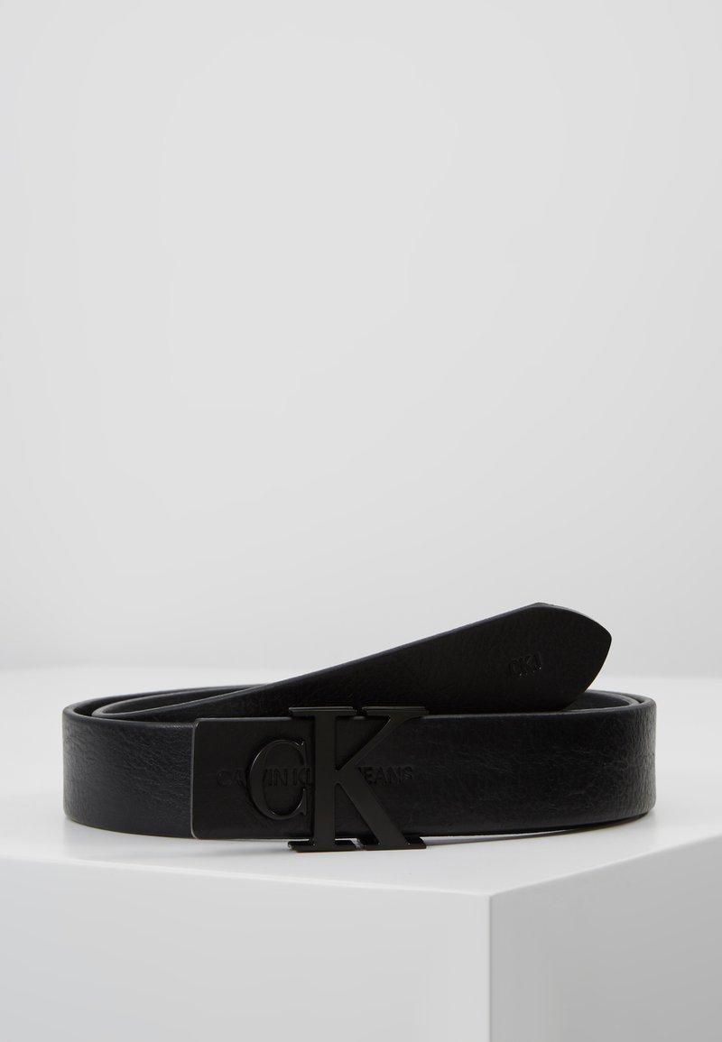 Calvin Klein Jeans - SKINNY MONOGRAM - Pásek - black