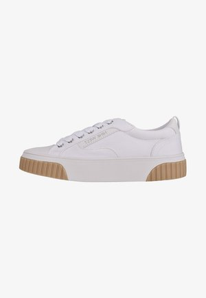 Sneakers laag - white fabric