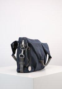 Lässig - NECKLINE BAG SPIN DYE - Borsa fasciatoio - blue mélange - 4