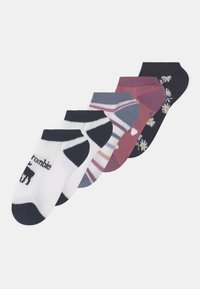 Abercrombie & Fitch - ANKLE 5 PACK - Socks - off-white - 0