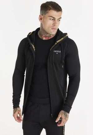 SIKSILK INSET CROWN ZIP THROUGH HOODIE - Zip-up sweatshirt - black/gold