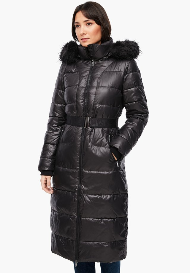 MIT LOGO-GÜRTEL - Winter coat - black