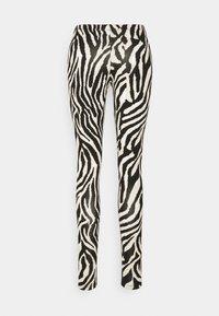 Saint Tropez - DAVINA - Leggings - Trousers - black grand zebra - 1