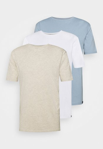 CORE 3 PACK - T-shirt - bas - ecru/ashley blue/white