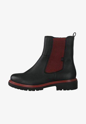 Ankelboots - black/red