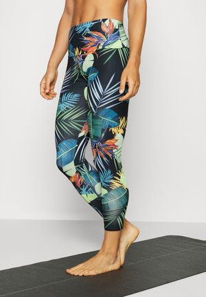 HIGH BASIC MIDI - Leggings - black/green