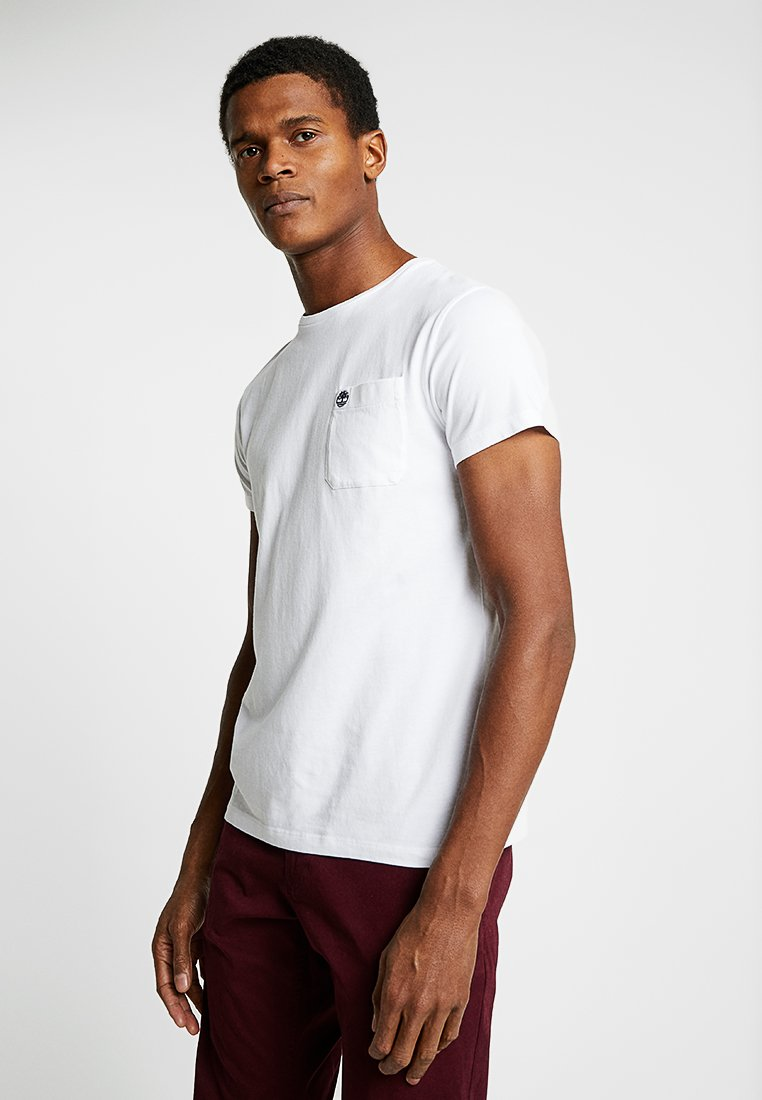 Timberland - DUNSTAN RIVER POCKET SLIM TEE - T-shirt basic - white