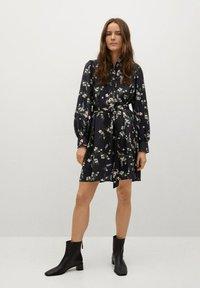 Mango - NOELA - Shirt dress - black - 1