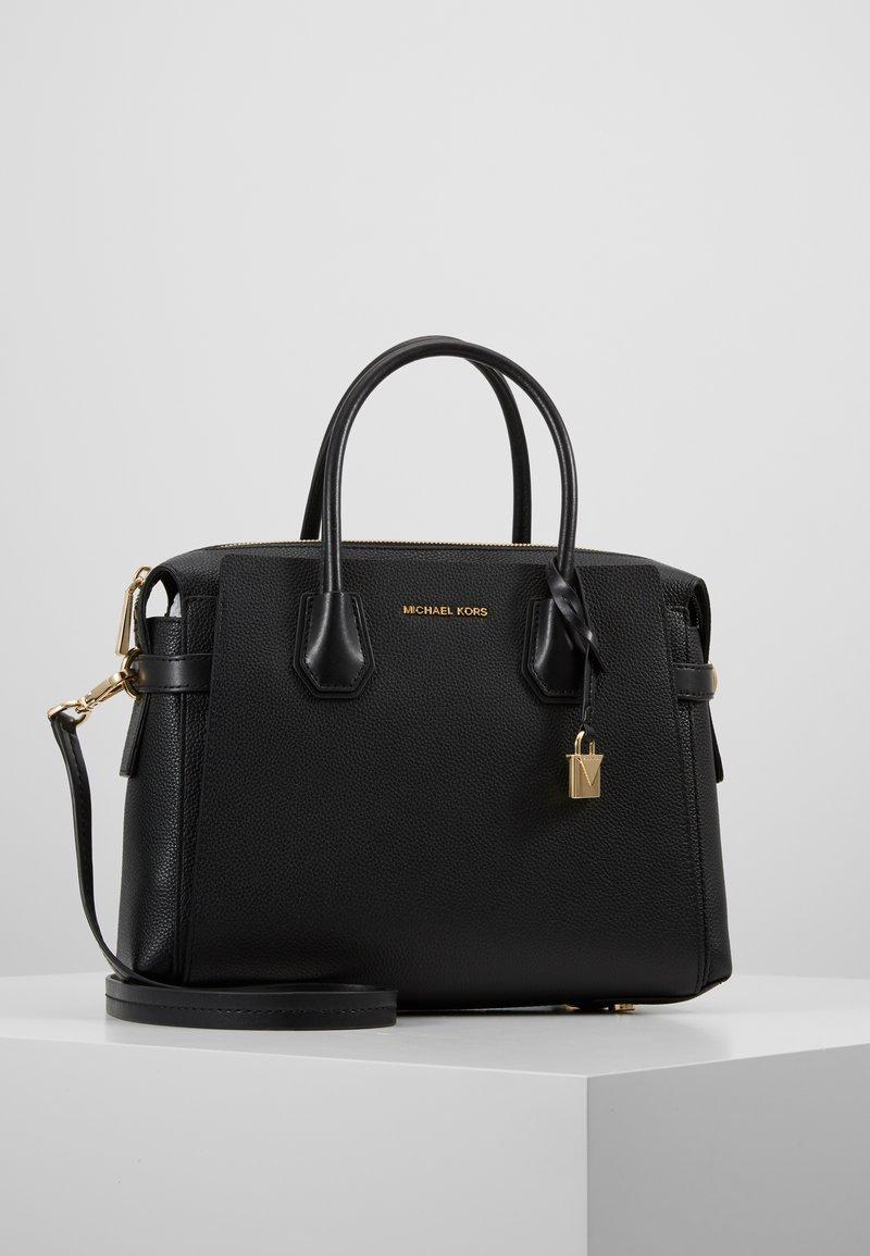 MICHAEL Michael Kors - MERCER BELTED SATCHEL - Handbag - black
