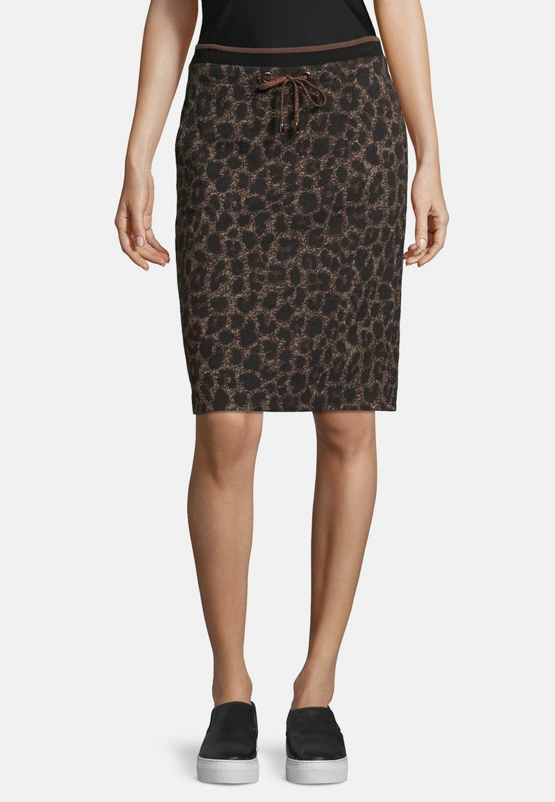 Betty Barclay - MIT JACQUARD - Pencil skirt - black/taupe