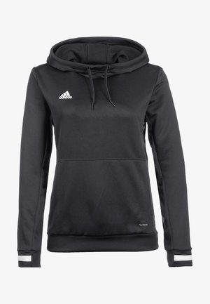 TEAM 19  - Sweat à capuche - black/white