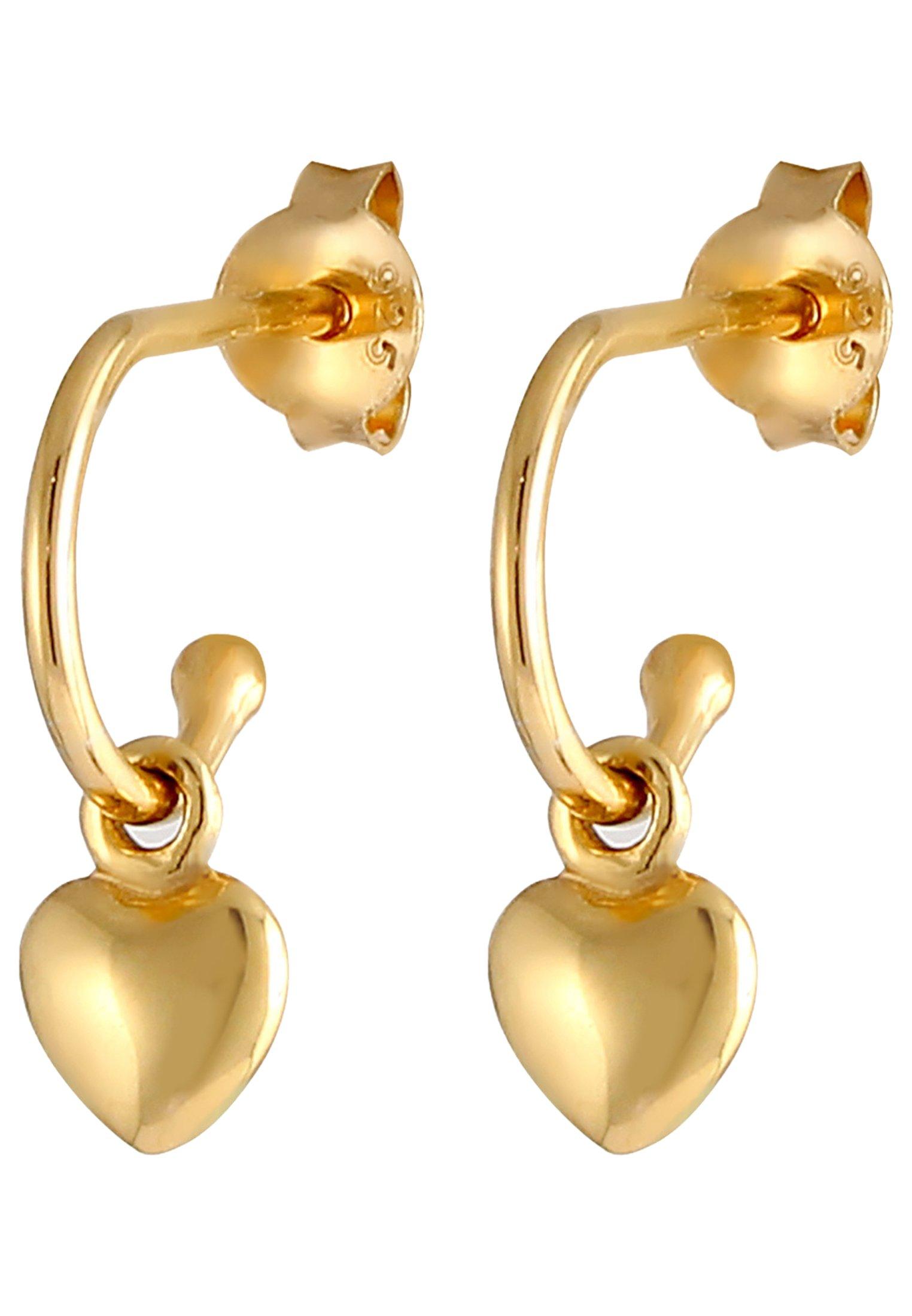 Elli Creole Herz - Ohrringe Gold