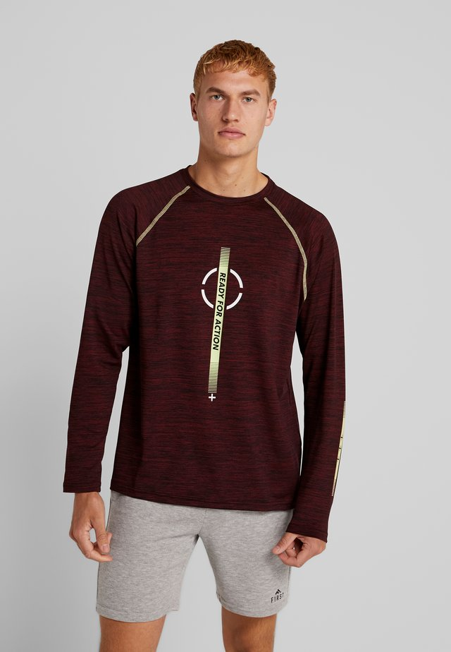 Long sleeved top - bordeaux